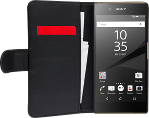 iZound Leather Wallet Case Sony Xperia Z5 Black