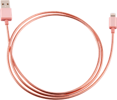 iZound Metal Lightning USB Cable 1 m Rose Gold