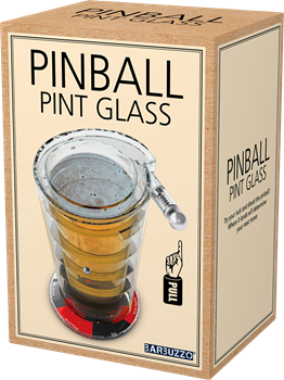 Pinball Pint Glass