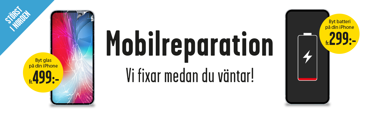 Mobilreparation hos Teknikmagasinet - laga iPhone - byt iPhoneskärm & batteri
