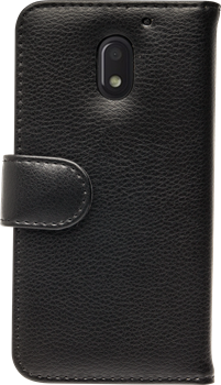 iZound Leather Wallet Case Lenovo Moto E3 (3rd gen) Black