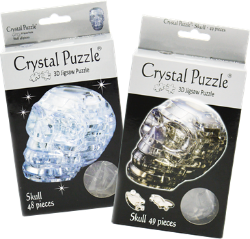 Crystal Puzzle Skull Assorted Colour