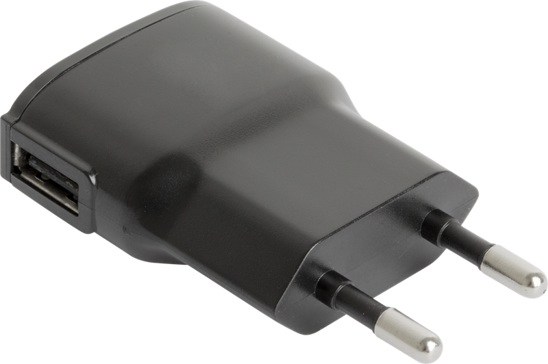 X Power USB Charger 1A Black: Superslimmad reseladdare med