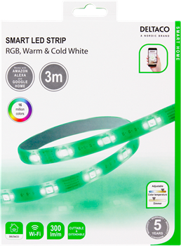 Deltaco RGB Smart LED-List 3m