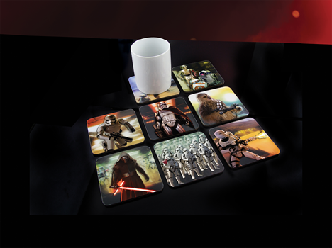Star Wars Ep7 3D Coasters