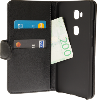 iZound Leather Wallet Case Huawei Honor 5X Black
