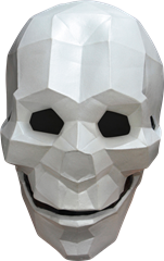 Maskeradmask Skull Low Poly