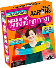 Crazy Aaron Hypercolor Mixed by me Thinking Putty Kit