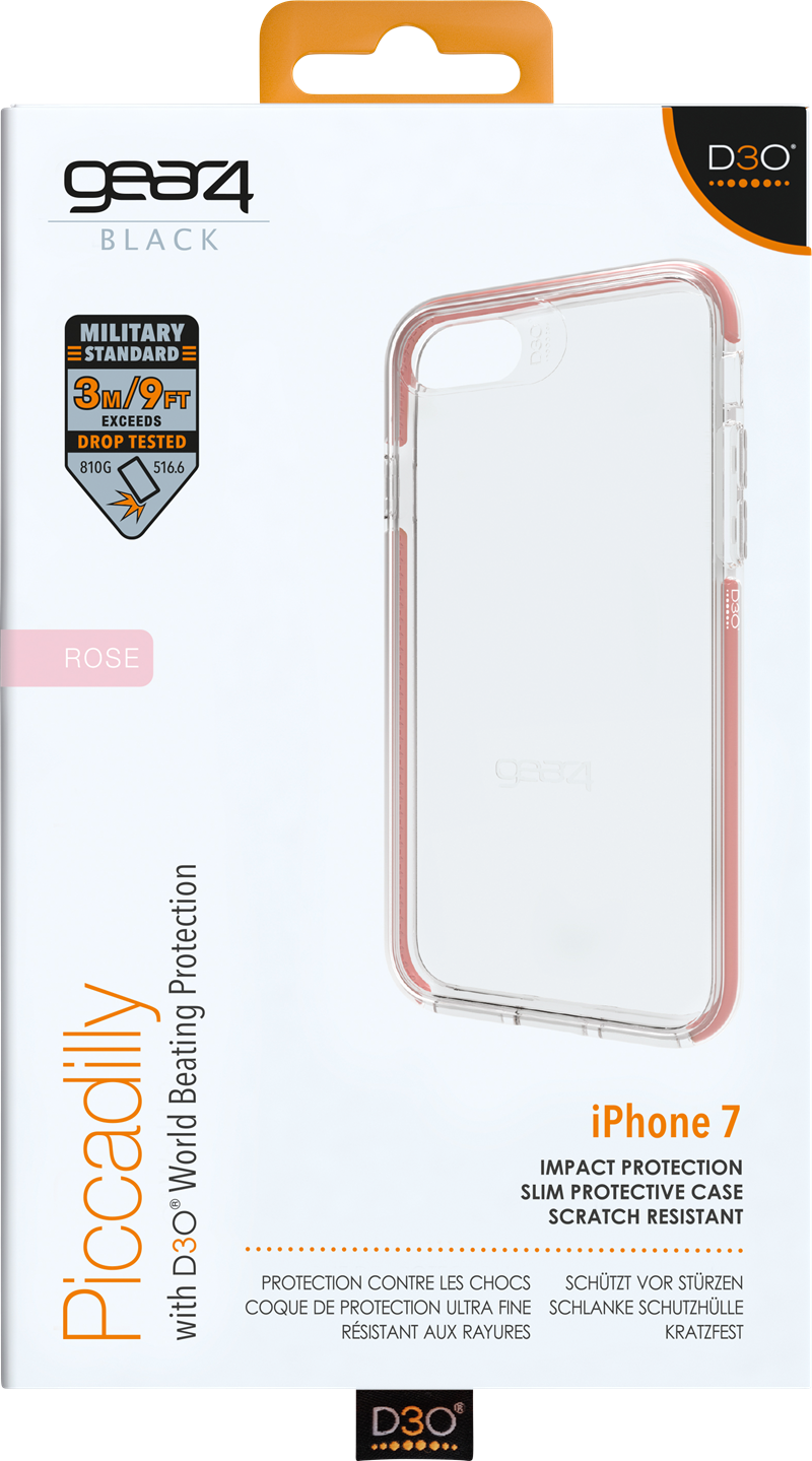 Gear4 Piccadilly iPhone 6 7 8 Rose Gold  Skal med supermaterial för ... 05cafb6ce26e3
