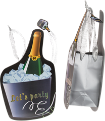 Gift bag Champagne bottle 35x20cm