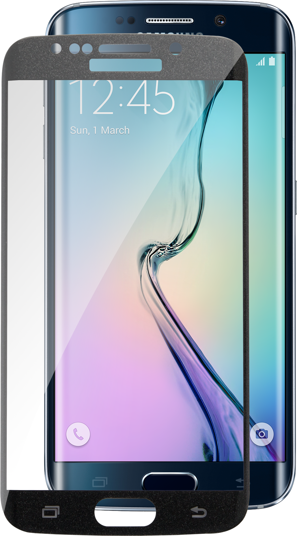 Läs mer om iZound Curved Glass Samsung Galaxy S6 Edge Black