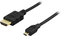 Micro HDMI to HDMI Cable Black 2m