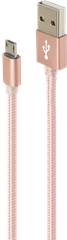 iZound Nylon Micro-USB Cable 1m Pink