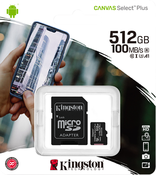 Kingston Canvas Select Plus 512GB