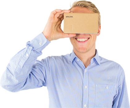 Spectra Optics Cardboard 3D VR Glasses