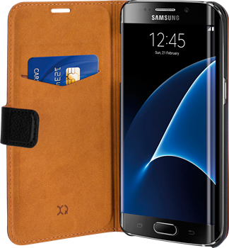 Xqisit Slim Wallet Selection Samsung Galaxy S7 Edge Black