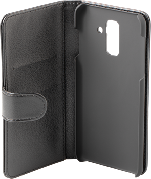 iZound Leather Wallet Case Samsung Galaxy A6 Plus (2018) Black
