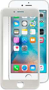 iZound 3D Grizzly Glass Full Frame iPhone 6/6S Silver