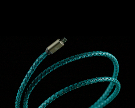 PlusUs Lifestar Lightning Cable 1 m Cross Turquoise