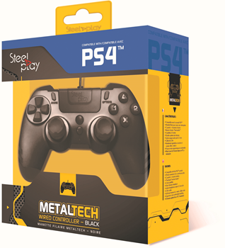 Steelplay PS4 Wired Controller - Black