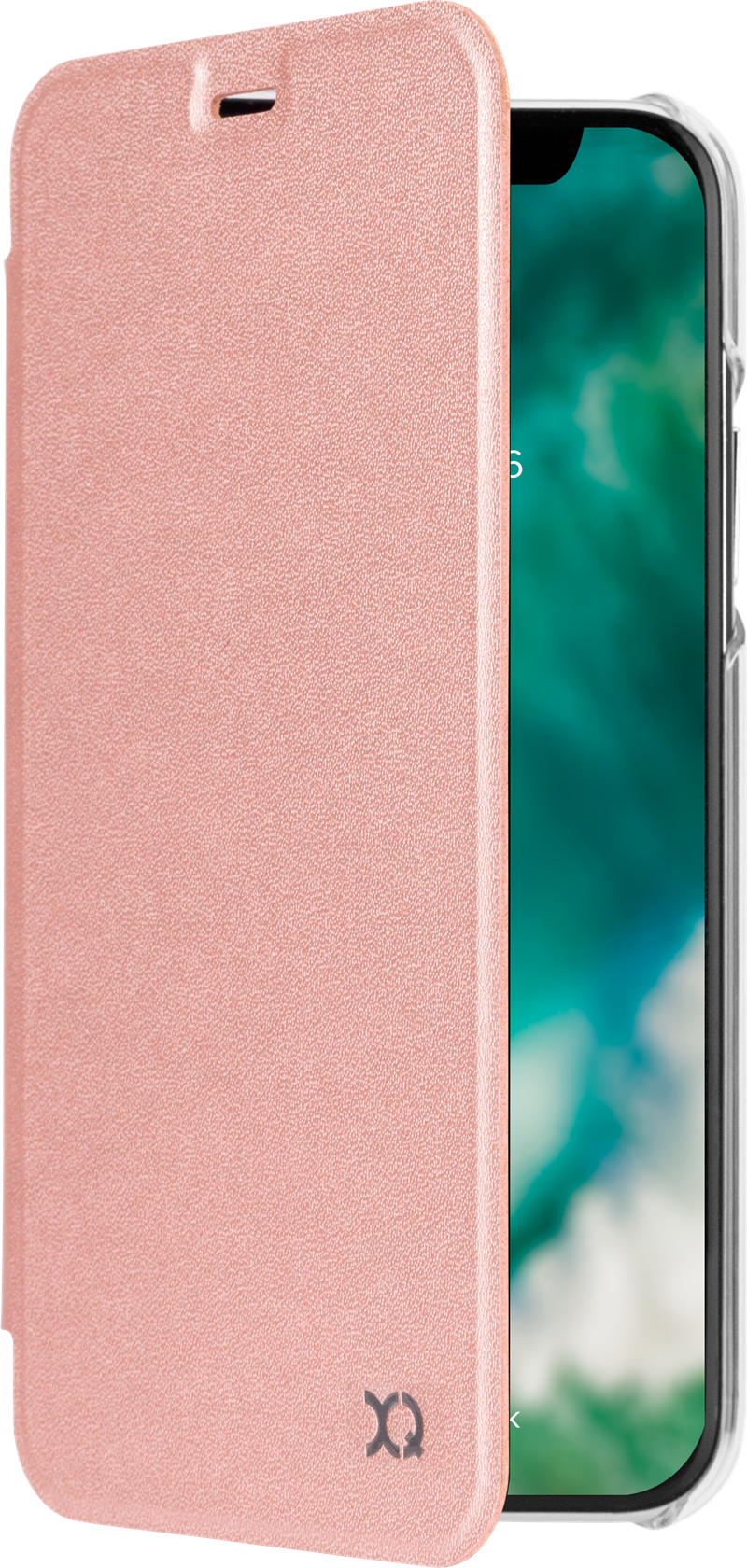 Xqisit Flap Cover Adour iPhone X XS Rose Gold  Plånboksfodral med ... 0b3f2d761bfe7