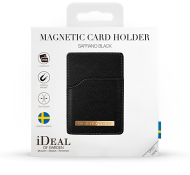 iDeal of Sweden Magnetic Card Holder Black