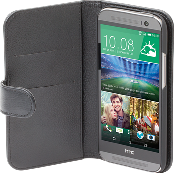 iZound Leather Wallet Case HTC One (M8) Black