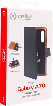 Celly Wallet Case Samsung Galaxy A70 Black