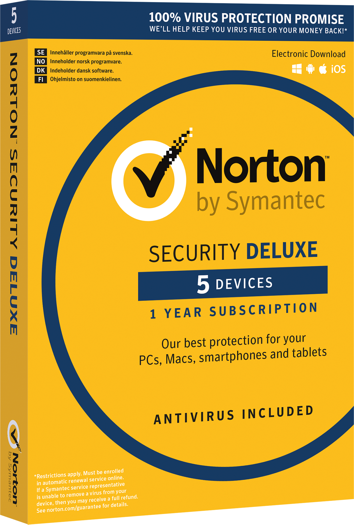 Läs mer om Norton Security Deluxe 3.0 ND 1 User 5 Devices