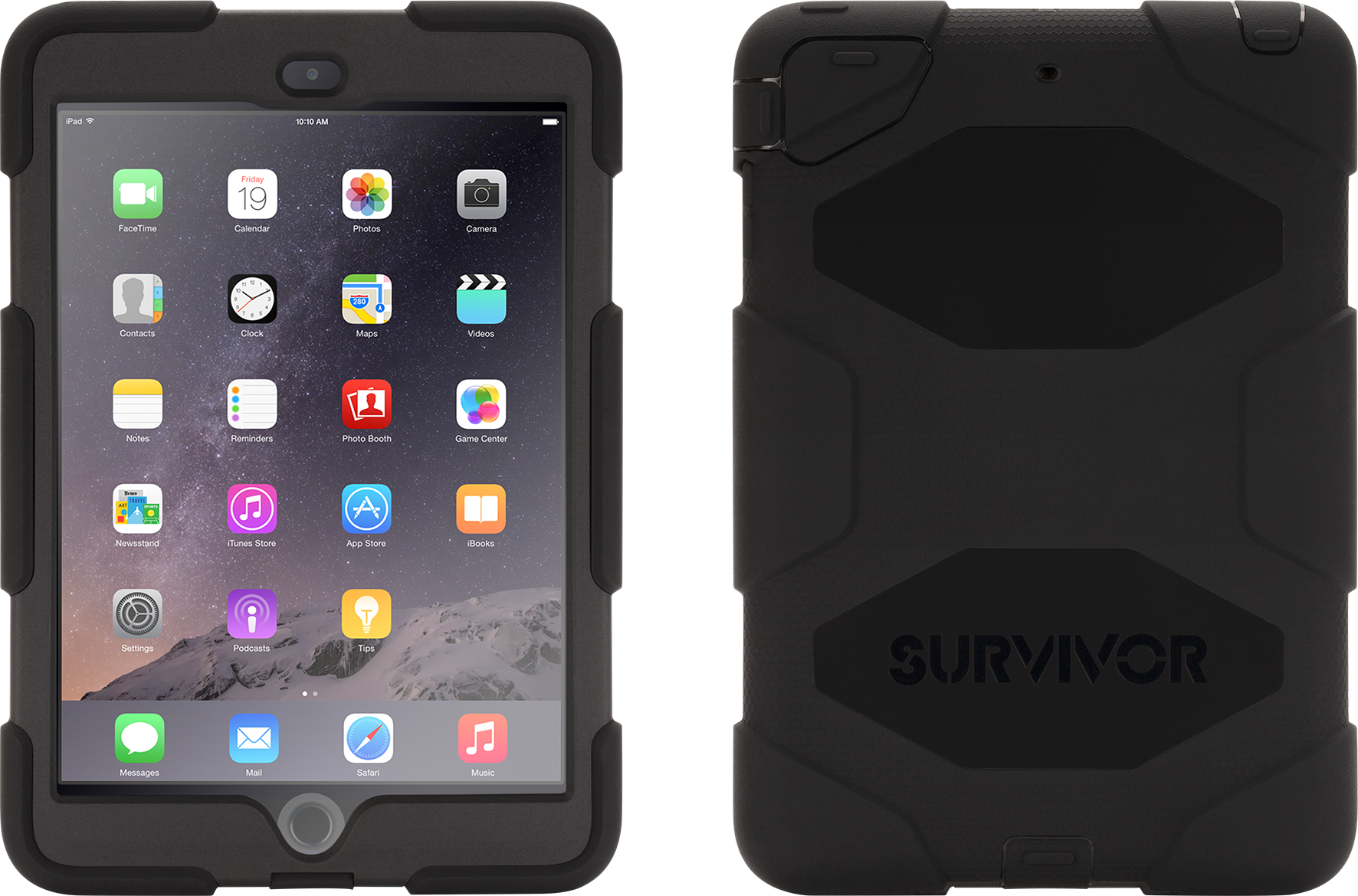Läs mer om Griffin Survivor iPad mini 1/2/3 Black