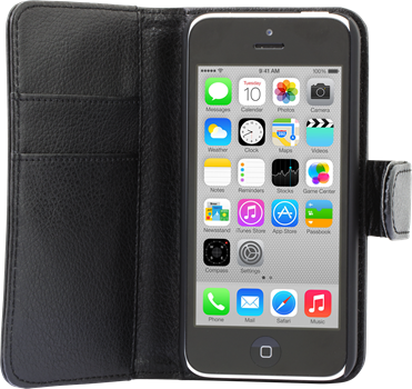 iZound Leather Wallet Case iPhone 5C Black
