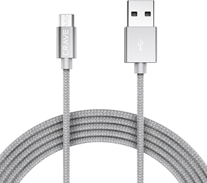 CRAVE Micro to USB 0,9m Silver