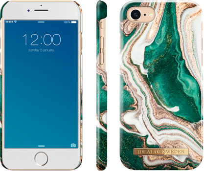 iDeal of Sweden Fashion Case iPhone 6/6S/7/8 Golden Jade Marble