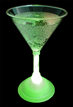 Flashing LED Cocktail Glass