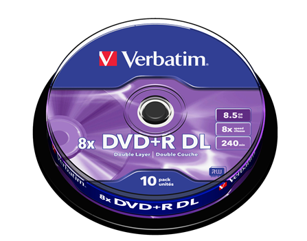 Verbatim DVD+R Dual Layer 8,5GB 10-pack (spindel)
