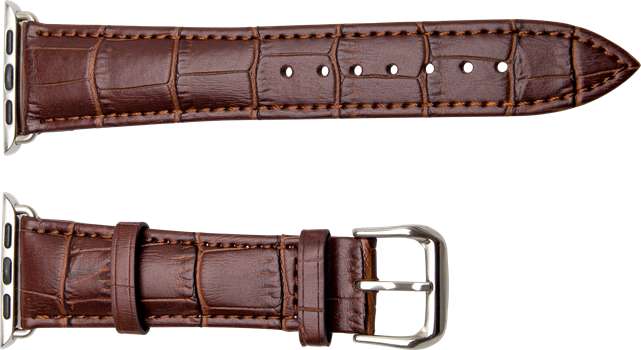 iZound Apple Watch Leather Croc Band 38 mm Brown