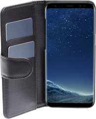 iZound Leather Wallet Case Samsung Galaxy S8 Black