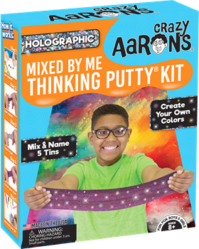 Crazy Aarons Thinking Putty Mixed By Me Holographic Kit