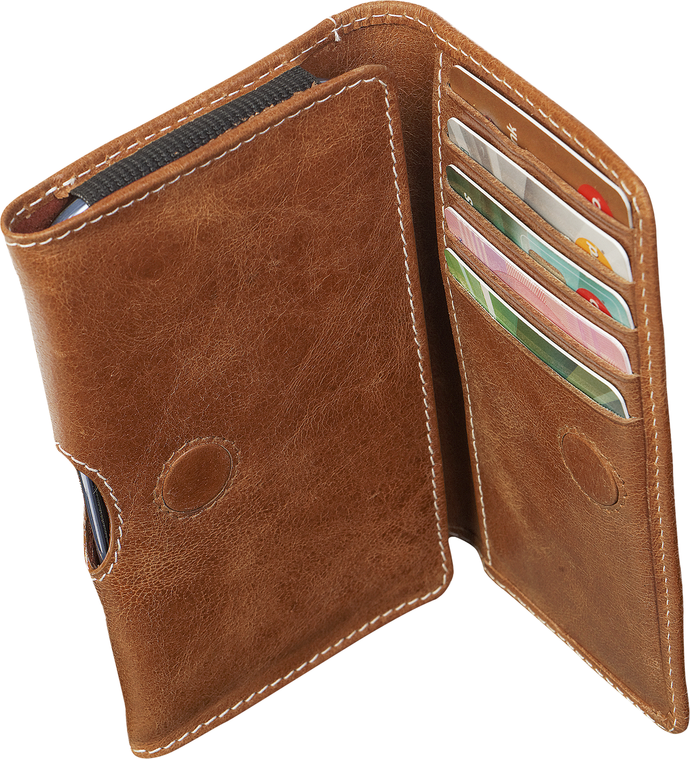"Läs mer om D.Bramante Leather Wallet Closed 4,8"" Golden Tan"