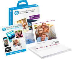 HP Social Media Snapshots 25 sheets 10x13cm