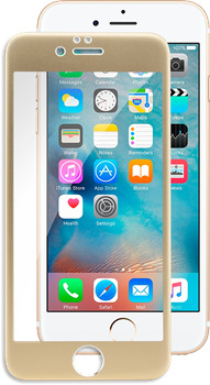 iZound 3D Grizzly Glass Full Frame iPhone 6/6S Gold