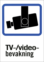 TV/video-bevakningsskyltar A4 & A5