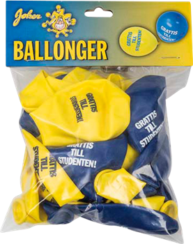 Studentballonger 8-pack