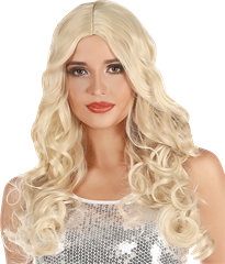 Wig Natural Look Curly Blond