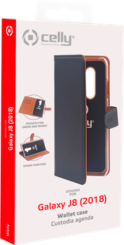 Celly Wallet Case Samsung Galaxy J8 Black