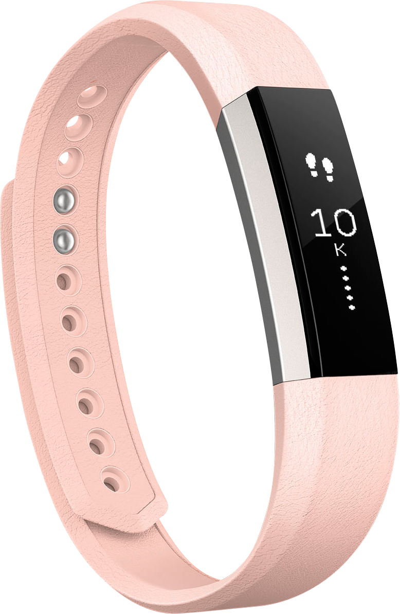 Läs mer om Fitbit Alta Leather Accessory Band Large Blush Pink