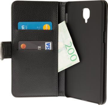 iZound Leather Wallet Case OnePlus 3 Black