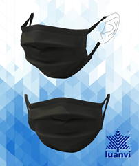 Luanvi Washable Facemask - Black Medium