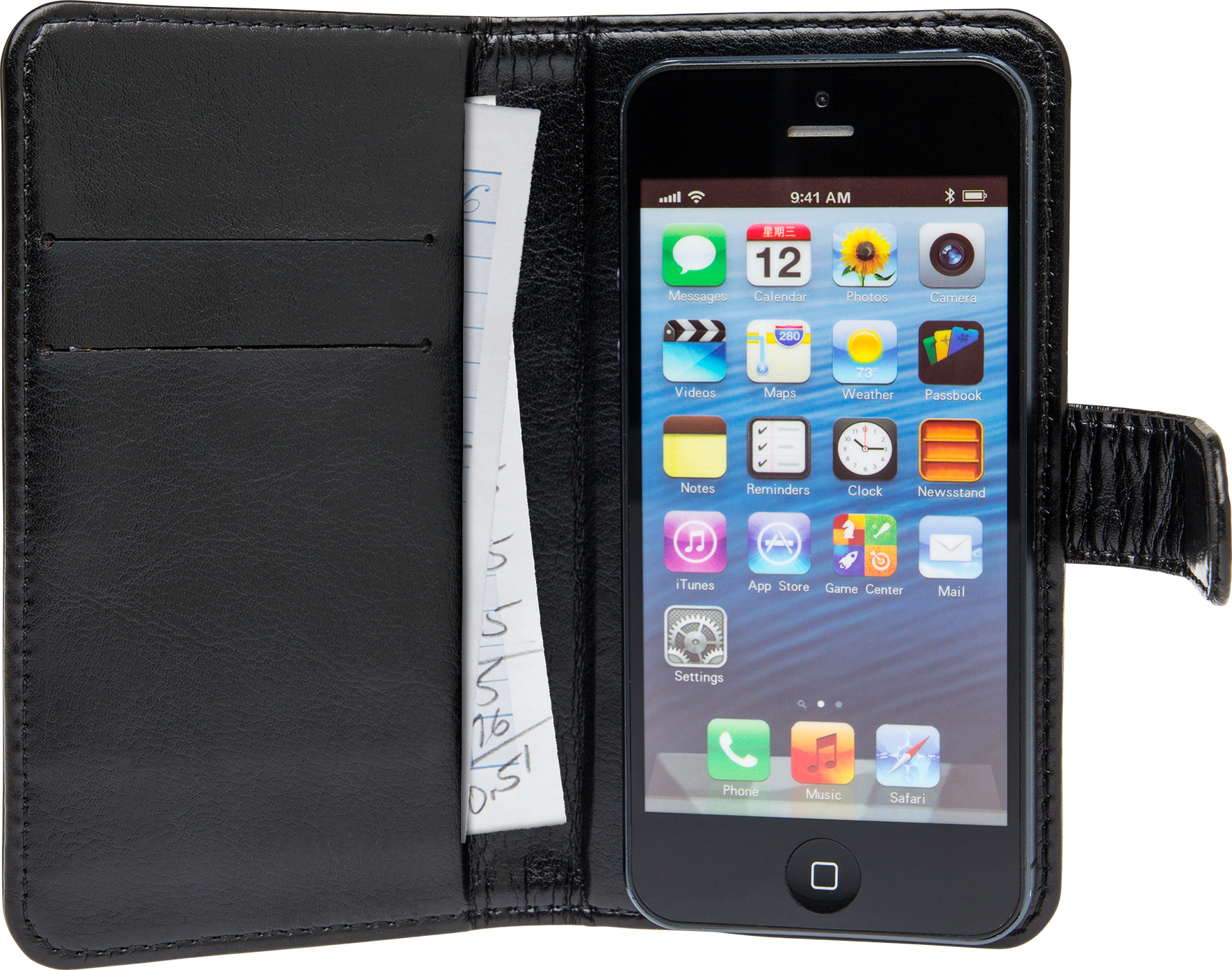 Läs mer om iZound Wallet Case Universal Medium Black