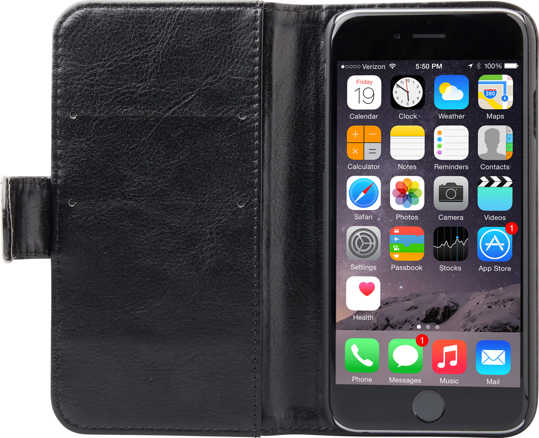 Läs mer om iZound Wallet Case iPhone 6/6S Dark Brown